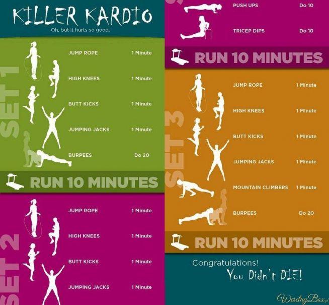 Ćwiczenia na różne partie ciała, KILKANAŚCIE MINUT dziennie