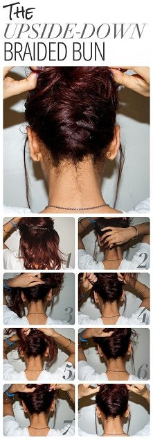 Upside-down braided Bun