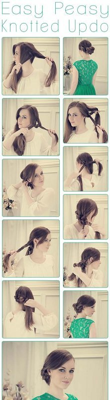 diy, diy projects, diy craft, handmade, diy easy peasy knotted updo hairstyle