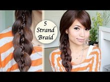 Unique 5 Strand Braid (Braid in Braid) Hairstyle Hair Tutorial