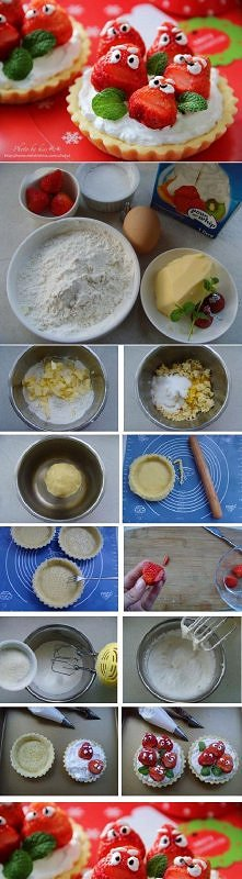 diy, diy projects, diy craft, handmade, diy cute strawberry tart