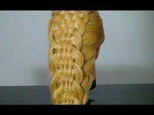 Прическа с плетением на длинные волосы. Braided hairstyles tutorial