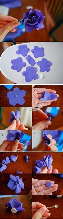 diy, diy projects, diy craft, handmade, diy easy fabric flower