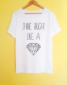 shine bright like a diamond koszulka ręcznie malowana szczegóły i możliwość zakupu po kliknięciu w obrazek