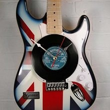 Union Jack Guitar Clock by Vyconic