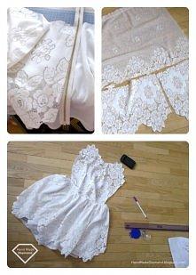 Sukienka z zasłony?  from HandMadeDiamond.blogspot.com