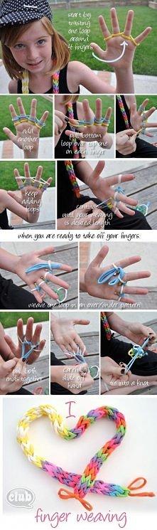 diy, diy projects, diy craft, handmade, diy finger weaving