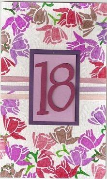 DIY kartka na 18 urodziny