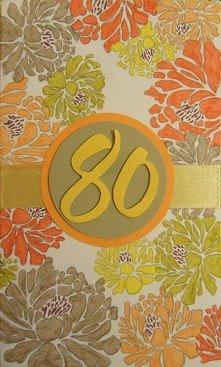 urodzinowa kartka, 80 urodziny
