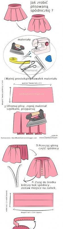 Jak zrobić spódnice z plisami? TUTORIAL HandMadeDiamond.blogger.com