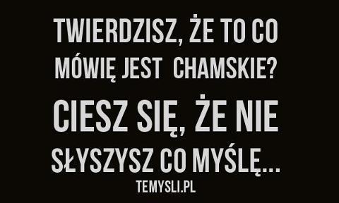 Chamskie Na Słowa Zszywkapl