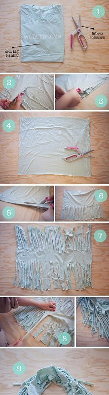 diy, diy projects, diy craft, handmade, diy t-shirt scarf