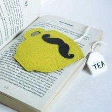 Zakładka do książki z wąsem...