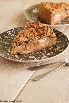 SZARLOTKA ORZECHOWA  Ciasto: - 120 g orzechów włoskich, - 270 g mąki, - 150 g...