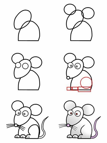 jak narysować mysz