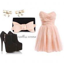Piękna sukienka z uroczymi dodatkami:)