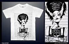 T-shirt ręcznie malowany Vile Stuff!