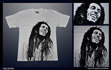 Bob Marley ręcznie malowany na koszulce ;)