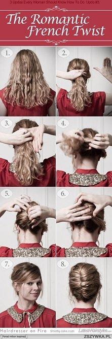 Łatwe, hair pin up