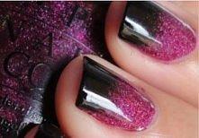 POTRZEBUJESZ:   baza pod lakier do paznokci, brokatowy lakier do paznokci (np...