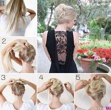prosta w wykonaniu, a elegancka i efektowna fryzura!:)