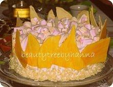 Piankowy tort - na roczek