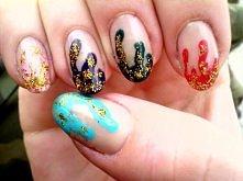paznokcie, kolorowe
