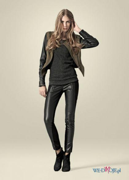 spodnie skórzane New Yorker w kolorze czarnym na new yorker