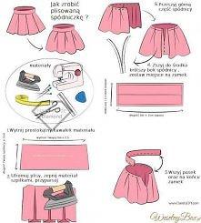 Jak uszyć plisowaną spódnic...