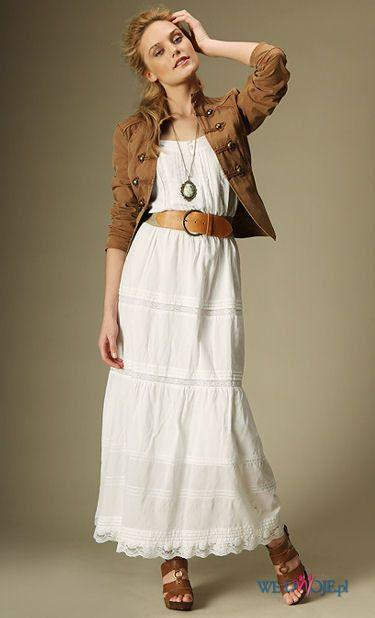 biała sukienka Promod długa lato na Kolekcje Promod