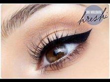 Jak namalować kreskę eyelinerem  .