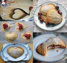 Hearts filled with berries ...