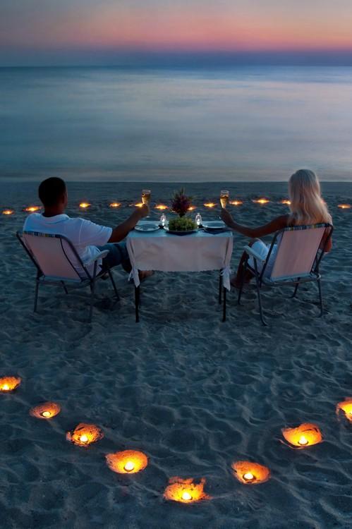 Romantyczna Kolacja Na Plaży Na Zakochani Zszywka Pl