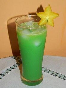 """""""Zielona żabka"""" Składniki: •40 ml wódki •20-40 ml blue curaçao •120..."""