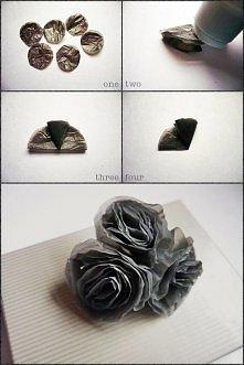 kwiaty z torebek foliowych