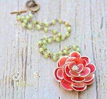 muszelkowy kwiat - zawieszka