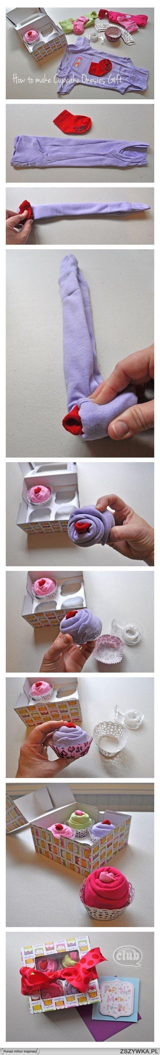 extra pomysł na zapakowanie prezentu dla niemowlaczka :)