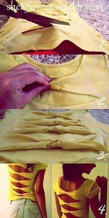 diy bluzka z kokardkami!! :)