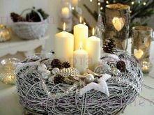 piękny świąteczny świecznik
