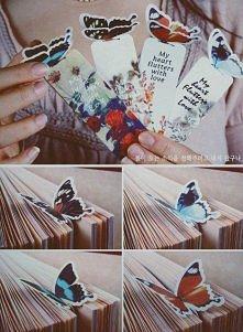 Zakładki motylki DIY na prezent do książki, 3D.