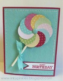 Kartka urodzinowa lizak 3D
