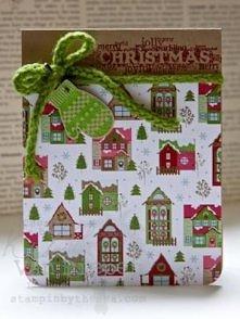 Kartka świąteczna domki