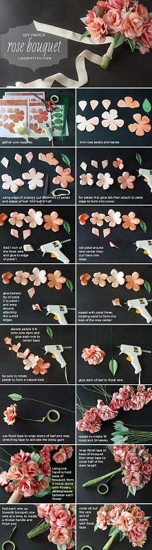 Kwiatki z papieru : )