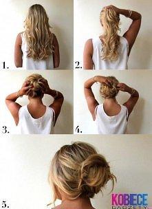 Upięcie włosów NA SZYBKO