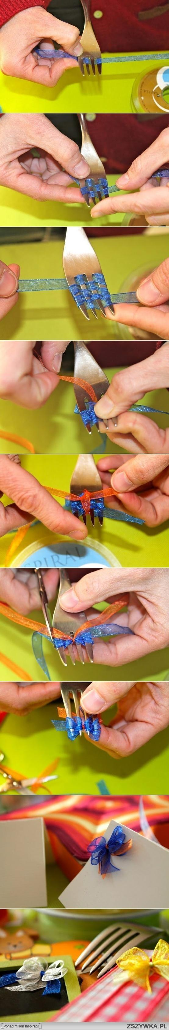 Kolejny sposób na zrobienie uroczej kokardki.