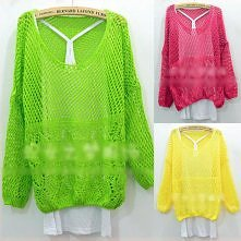 Women Candy Color 3/4 Sleev...