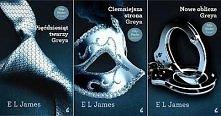 """trylogia """"50 odcieni"""" - 50 twarzy Grey'a - Ciemniejsza strona Grey'a - Nowe oblicze Grey'a"""