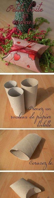 Pudełeczko z rolki od papieru? Czemu nie! :-)