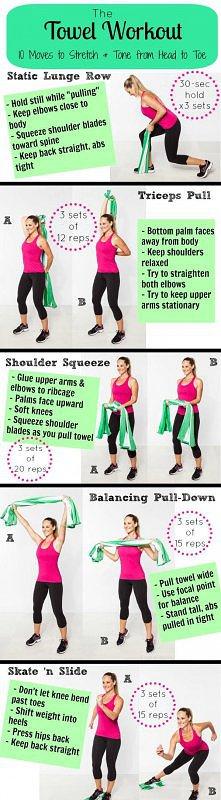 10 ćwiczeń z ręcznikiem