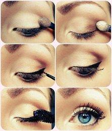 Prosty makijaż .